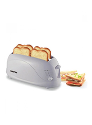 Geepas 4-Slice Bread Toaster with Browning Control, BT9895, White