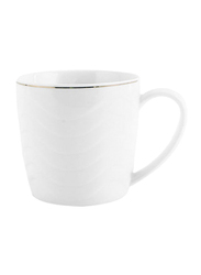 RoyalFord 12oz Stoneware Bone Wave Mug, RF6684, White