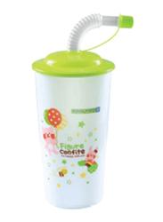 RoyalFord 450ml Plastic Straw Cup, RF7237, Green