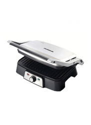 Olsenmark 2 Slice Grill Maker, 1500W, with Non-Stick Coating Plate, OMGM2232, Silver