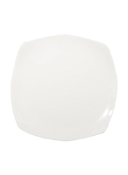 RoyalFord 12-inch Porcelain Ware Square Dessert Serveware Flat Plate, RF8755, White