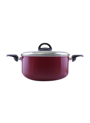 RoyalFord 28cm Non-Stick Casserole with Lid, RF1254C28, Red