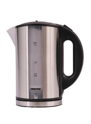 Geepas 1.7L Electric Stainless Steel Cordless Kettle, 2200W, GK5074, Silver