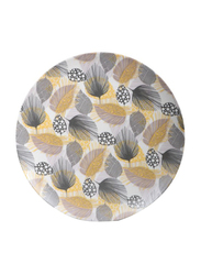 RoyalFord 10-inch 3-Pieces Bamboo Fiber Round Dinner Plate Set, RF9619, Beige/Grey