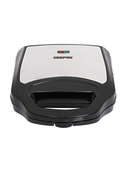 Geepas 2 Slice Electric Sandwich Maker, 700W, with Non-Stick Coating Soleplate, GSM6002, Black