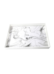 RoyalFord 48cm Marble Designed Tray, RF9678, White
