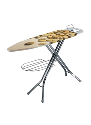 RoyalFord Mesh Ironing Board with Socket, RF1967IB, Brown