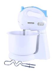 Krypton 7-Speed Hand Mixer with 2.3L Bowl, 150W, KNSM6102, White