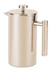RoyalFord 800ml Double Wall Stainless Steel French Press Coffee Maker, RFU9015, Silver