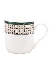 RoyalFord 350ml Fine Bone China Mug, RF7584, White/Green