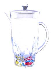 RoyalFord 2 Ltr Acrylic Crystal Transparent Jug, RF6887, Clear