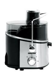 Geepas 0.6L Body 2 Speed Juice Extractor, 600W, GJE6106, Black/Silver