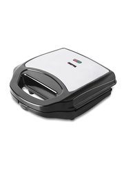 Geepas 2 Slice Grill Sandwich Maker, Non-Stick Plate, 700W, GGM6001, Grey