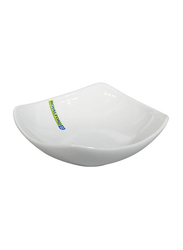 RoyalFord 7.5-inch Porcelain Ware Magnesia Square Serving Bowl, RF9257, White