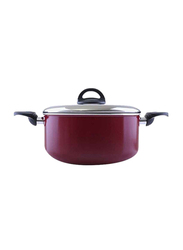 RoyalFord 26cm Non-Stick Casserole with Lid, RF1253C26, Red