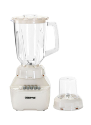 Geepas 1.5L 2-in-1 Blender with 4 Speed, 250W, GSB5362, White
