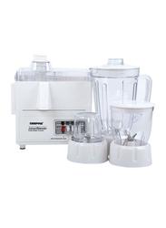Geepas 4-in-1 Super Blender, 400W, GSB2031, White