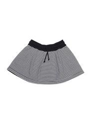 Mingo Kids Stripes Pattern Skirt, 4-6 Years, Black/White