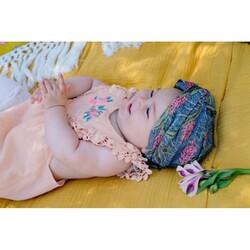 Louise Misha Lagoon Leaves Printed Headband, 3-9 Months, Blue