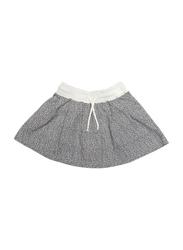 Mingo Kids Dots Pattern Skirt, 4-6 Years, Black/White
