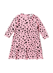 Noe & Zoe Baby Waffle Dress, Cotton, 3-6 Months, Pink Mash