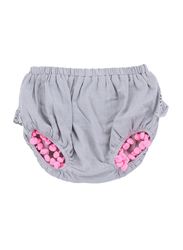 Louise Misha Aruba Silver Cloud Bloomers, 9-Months, Blue/Pink