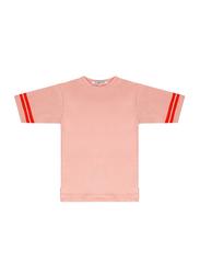 Mingo Kids Tee, 6-8 Years, Peach Pink/Koi