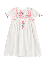 Louise Misha Coconut Embroidered Details Dress, Cotton, 12-Months, White