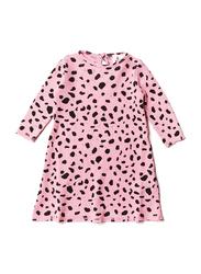 Noe & Zoe Baby Waffle Dress, Cotton, 18-24 Months, Pink Mash