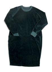 Monkind Emerald Dress, Cotton, Woman S, Blue