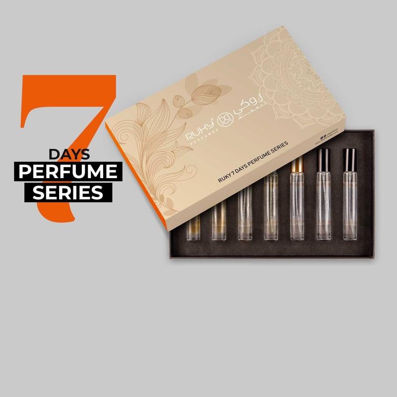 Ruky Perfumes 7 Days Perfume Series Unisex Perfume Set, 7 Pieces x 10ml EDP