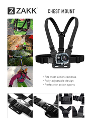 Zakk 10-in-1 Accessories Kit for Outdoor Sport Action Cameras, Grey