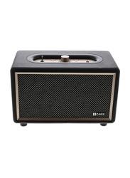 Zakk Woodstock Portable Bluetooth Speaker, Black/Brown