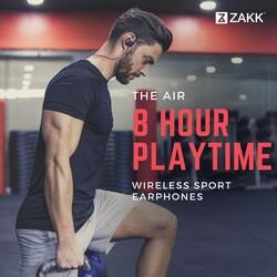 Zakk Air Wireless Neckband Headphones, Red