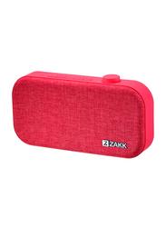 Zakk Lounge Portable Bluetooth Speaker, Red
