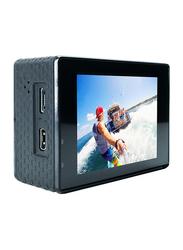 Zakk Rush 4K Action Camera with Accessories, 16 MP, Black