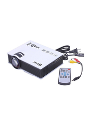 Zakk UC40+ HD LCD Portable Home Cinema Theatre Projector, 800 Lumens, Black