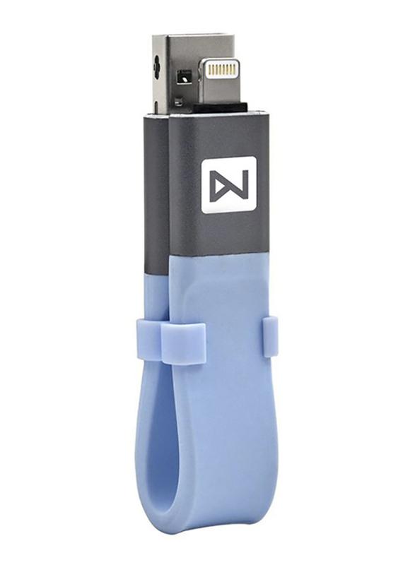 Zakk 64GB iDisk USB Flash Drive for Apple iPhone/iPad, Blue