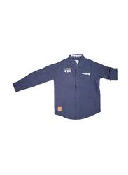 KWC Eagles Full Sleeve Plain Shirts for Men, 2-3 Years, Navy Blue
