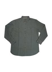 KWC Eagles Long Sleeve Plain Shirts for Men, Large, Olive