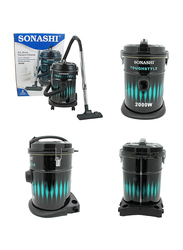 Sonashi Drum Vacuum Cleaner, 2000W, 21L, SVC 9008D, Black