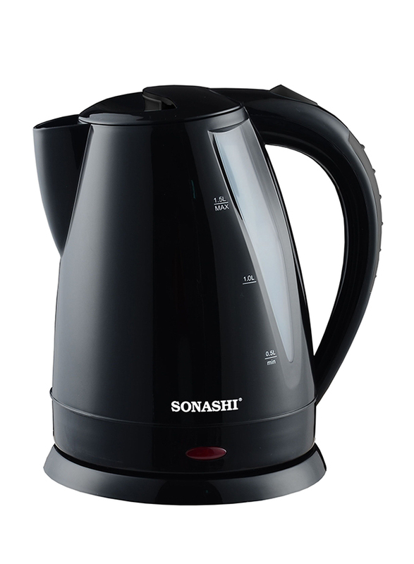 Sonashi 1.5L Electric Cordless Kettle, 2200W, SKT 1501, Black