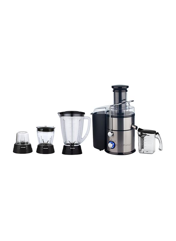 Sonashi 4 in 1 Juicer/Blender, 400W, SJB 401, Black/Silver