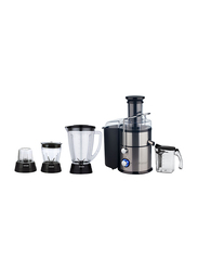 Sonashi 4 in 1 Juicer/Blender, 400W, SJB 401, Black/Silver