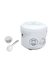 Sonashi 1.5L Plastic Rice Cooker, with Steamer, 650W, SRC 515, White