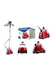 Sonashi 1.8L Garment Steamer, 1800W, SGS 311, Red/White
