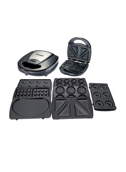 Sonashi Sandwich Maker and Grill, with Non-stick grill plate, 760W, SSM 862, Black