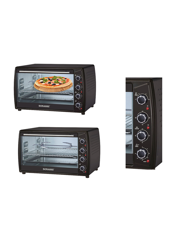 Sonashi 63L Electric Oven, 2200W, STO 732, Black