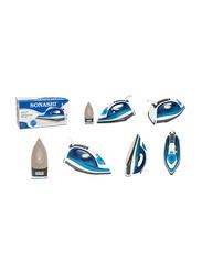 Sonashi Steam Iron, with Ceramic Soleplate, 2400W, SI 5075C, Blue/White