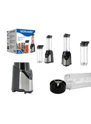 Sonashi Portable Sports Blender/Smoothie Maker, 300W, SB 184, Silver/Black